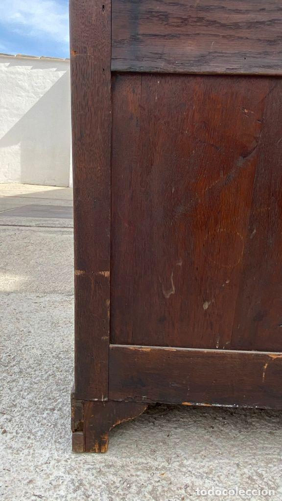 Antigüedades: PEQUEÑO MUEBLE AUXILIAR CARTONNIER CAJONERA MADERA CAOBA ESCRITORIO PIEL S XIX 115X58X37CMS - Foto 20 - 276634228