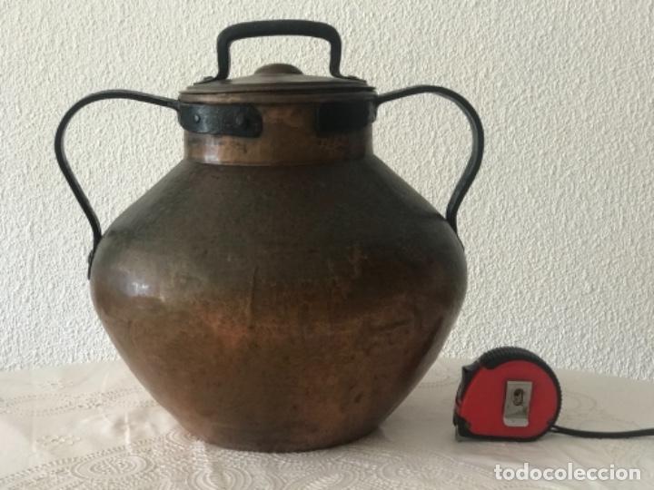OLLA DE GRAN TAMAÑO DE COBRE SIGLO XVIII-XIX. (Antigüedades - Técnicas - Rústicas - Utensilios del Hogar)