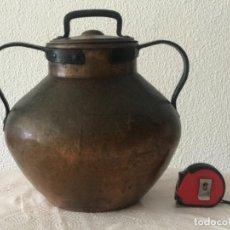 Antigüedades: OLLA DE GRAN TAMAÑO DE COBRE SIGLO XVIII-XIX.. Lote 276638353