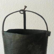 Antigüedades: CALDERA CALDERO DE COBRE SIGLO XVIII. VER FOTOS ANEXAS.. Lote 276640498