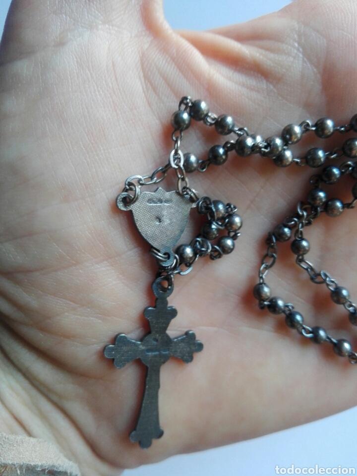 Antigüedades: Rosario antiguo para Virgen o niño plata y Ar, contraste estrella - Foto 5 - 276642753
