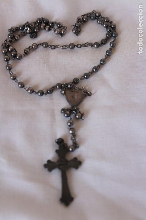 Antigüedades: Rosario antiguo para Virgen o niño plata y Ar, contraste estrella - Foto 6 - 276642753