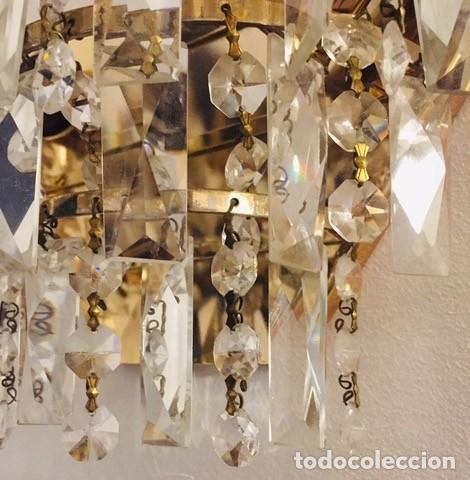 Antigüedades: LÁMPARAS APLIQUES DE CRISTAL DE ROCA - Foto 8 - 276646733