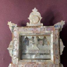 Antigüedades: ULTIMA CENA DE NACAR Y OLIVO. PP. S. XX. RECUERDO DE JERUSALÉN.. Lote 276687923