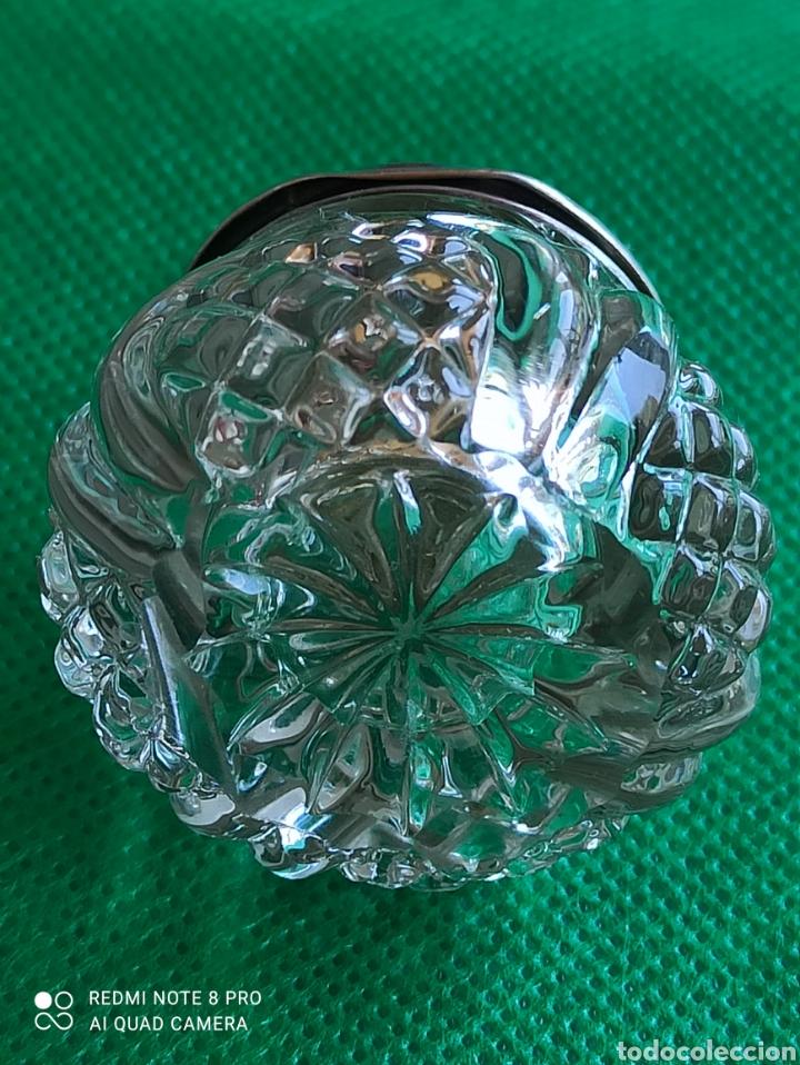 Antigüedades: Tarito cristal con tapa de plata esterlina con querubines Birmingham eduardiana antigua c1904. - Foto 4 - 276699053