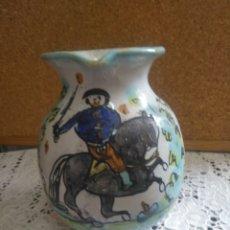 Antigüedades: JARRA DE CERÁMICA SANTA FE PUENTE DEL AZORBISPO RESTAURANTE BOTIN 1725. Lote 276708913