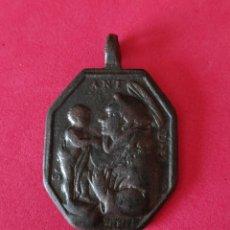 Antigüedades: PRECIOSA Y GRANDE MEDALLA O MEDALLON SAN ANTONIO DE PADUA. Lote 276729063