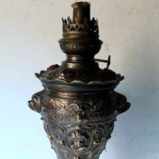 Antigüedades: ANTIGUO QUINQUE O LAMPARA DE ACEITE ,ORIGINAL MEDIADOS SIGLO XIX . NAPOLEON III. Lote 276739273