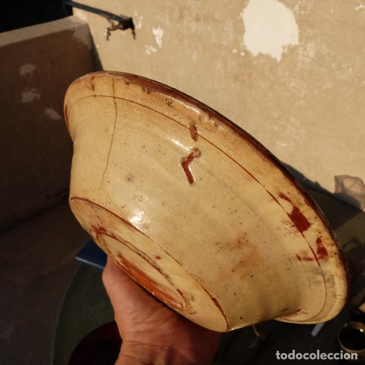 Antigüedades: Antiguo plato de ceramica catalana , la bisbal , 21,7 cm - Foto 2 - 276744548