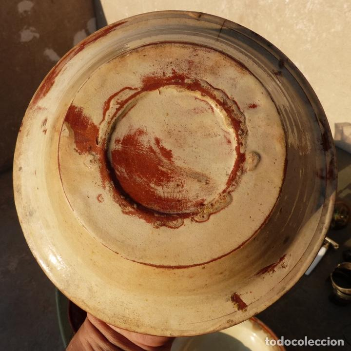 Antigüedades: Antiguo plato de ceramica catalana , la bisbal , 21,7 cm - Foto 3 - 276744548