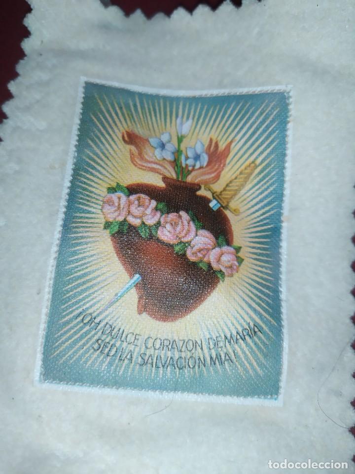 Antigüedades: ESCAPULARIO OH DULCE CORAZON DE MARIA SED LA SALVACION MIA REFUGIO DE PECADORES ROGAD POR NOSOTROS - Foto 2 - 276757773