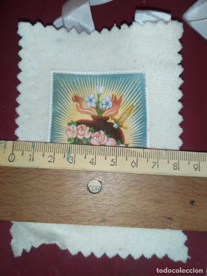 Antigüedades: ESCAPULARIO OH DULCE CORAZON DE MARIA SED LA SALVACION MIA REFUGIO DE PECADORES ROGAD POR NOSOTROS - Foto 4 - 276757773