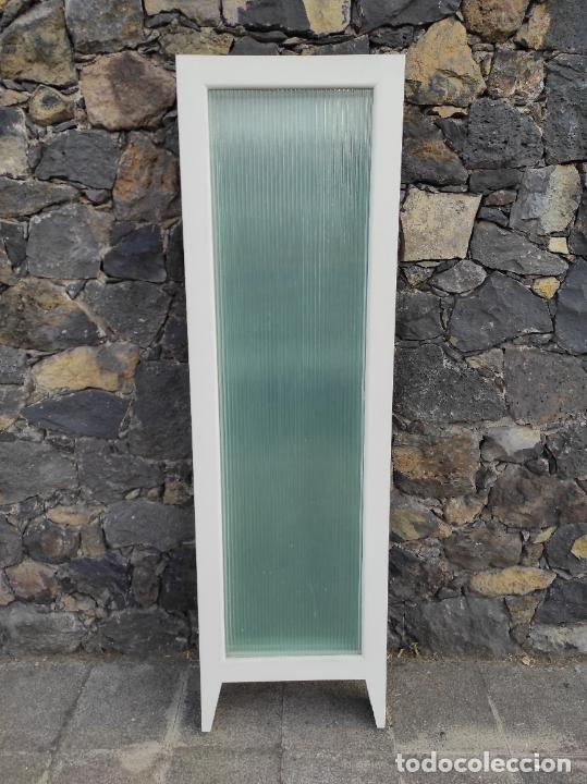 Antigüedades: Biombo de Antigua Consulta Medica - Madera y Cristal - 4 Hojas - Años 50-60 - Foto 7 - 276766853