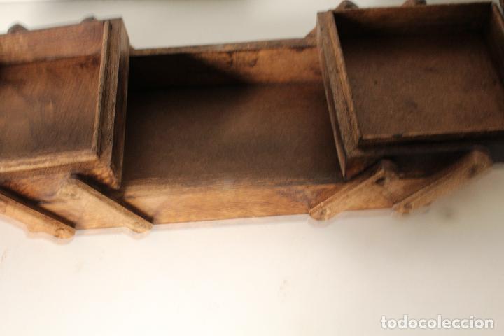 Antigüedades: costurero de madera tallada - Foto 4 - 276778143
