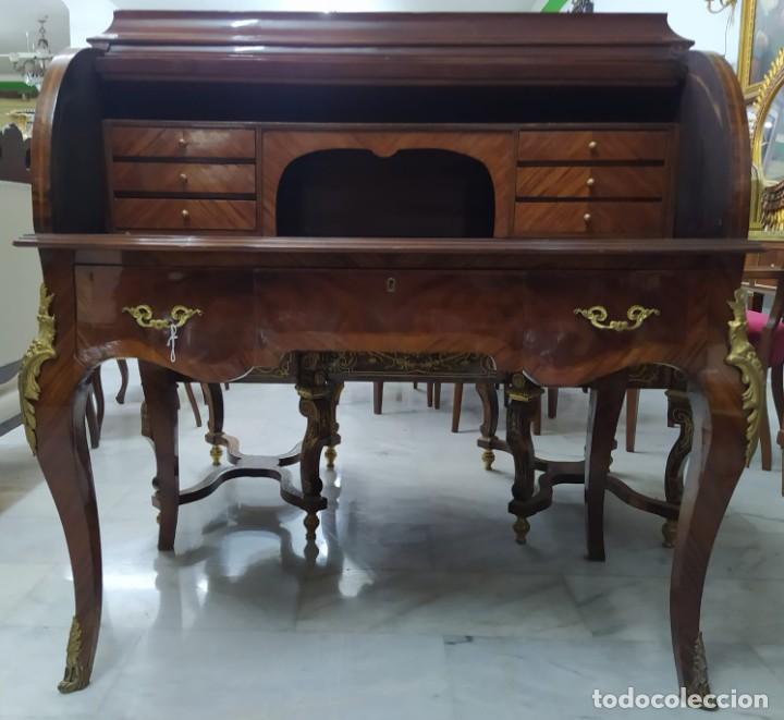 Antigüedades: Buró escritorio con marquetería - Foto 2 - 276782178