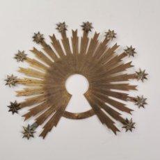 Antigüedades: CORONA PARA IMAGEN RELIGIOSA DE METAL DORADO Y PLATEADO. S.XIX.. Lote 276798823