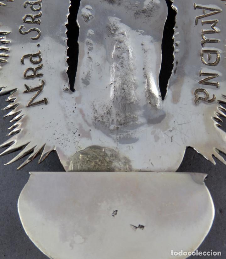 Antigüedades: Benditera de plata Nuestra Señora de la Almudena principios del siglo XX - Foto 7 - 276804238