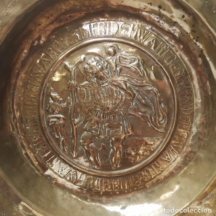 Antigüedades: Plato Limosnero San Cristóbal - Foto 2 - 276812883