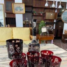 Antigüedades: JUEGO BAR CRISTAL BOHEMIA. Lote 276909268