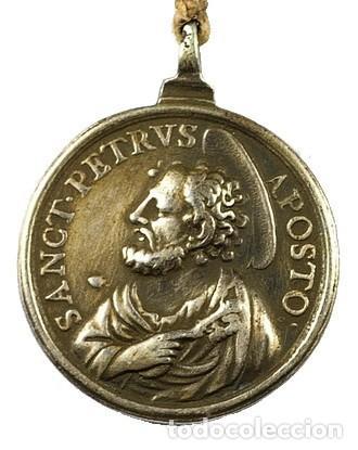 Antigüedades: Rosario DECENARIO. Medalla plata S. PEDRO - S. PABLO. Cuentas MEMENTO MORI. S.XVII. Colección RARO - Foto 4 - 276771168