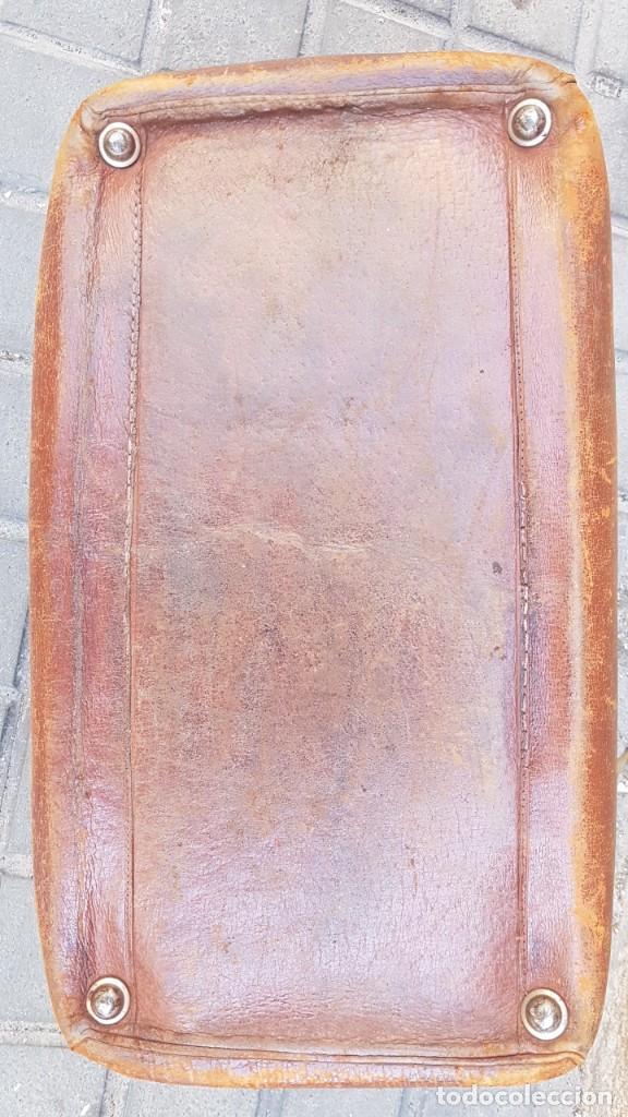 Antigüedades: MALETA PIEL MEDICO PRINCIPIO SXX - Foto 14 - 276935668