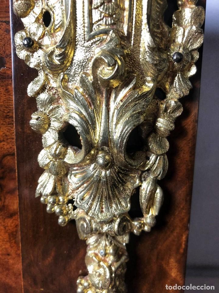 Antigüedades: Vitrina Luis XVI en Raiz y Pluma de Nogal Siglo XVIII - Foto 10 - 276936563