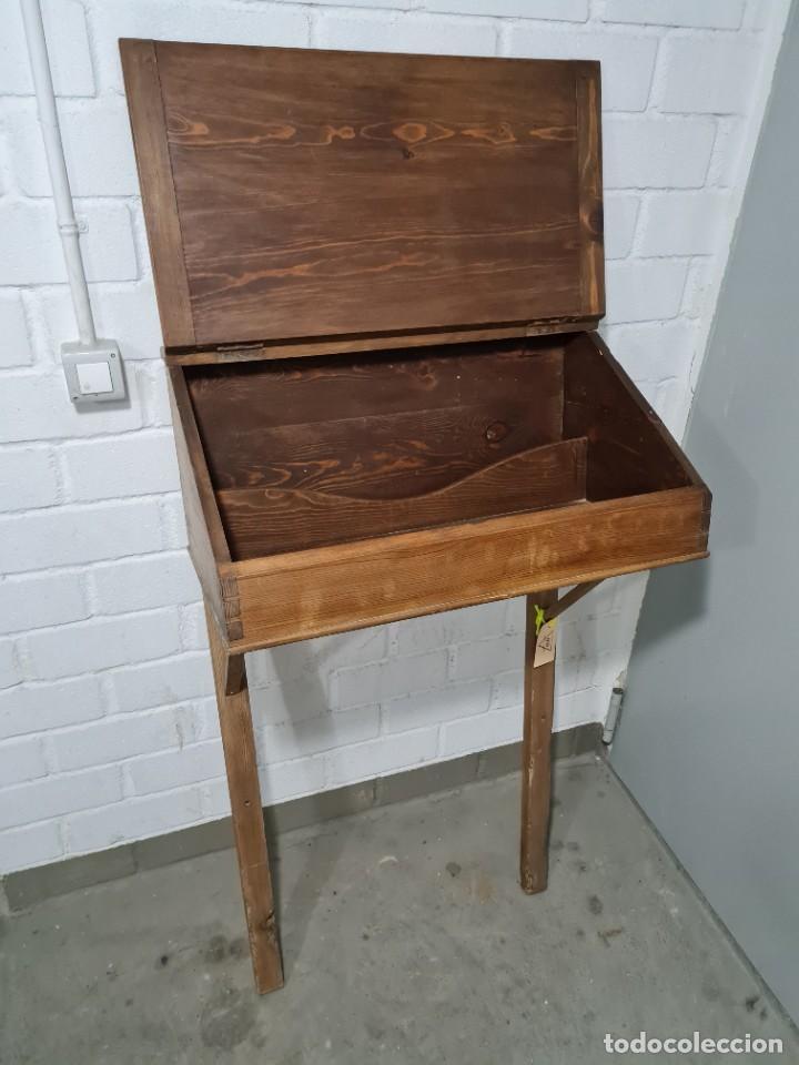 Antigüedades: Antiguo escritorio de pie - Foto 3 - 276940633