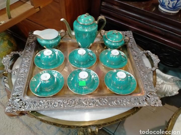 JUEGO DE CAFÉ SANTA CLARA AÑOS 50 REF-7735 (Antigüedades - Porcelanas y Cerámicas - Santa Clara)