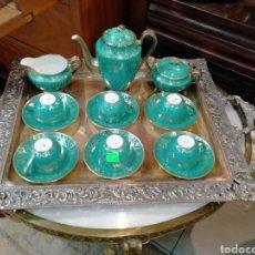 Antigüedades: JUEGO DE CAFÉ SANTA CLARA AÑOS 50 REF-7735. Lote 276942423