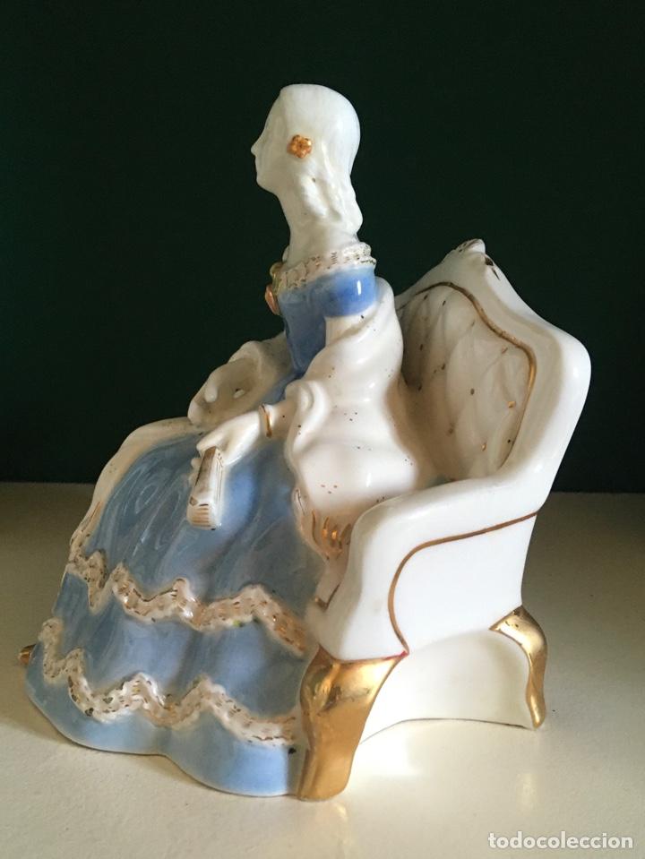 Antigüedades: Dama de época al estilo SXIX porcelana (años 40) - Foto 2 - 276943673