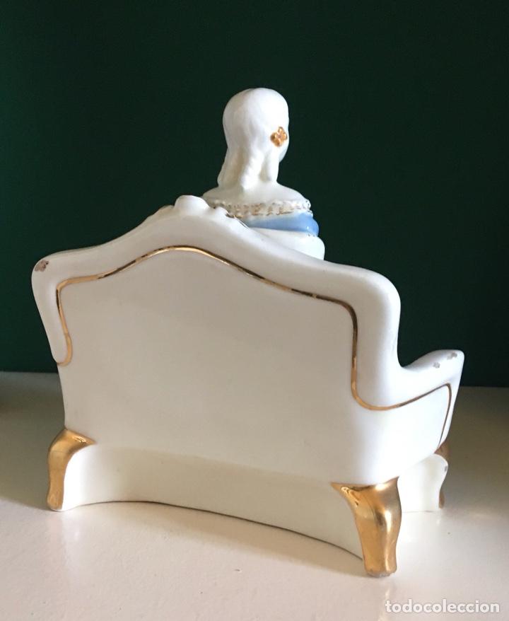 Antigüedades: Dama de época al estilo SXIX porcelana (años 40) - Foto 3 - 276943673