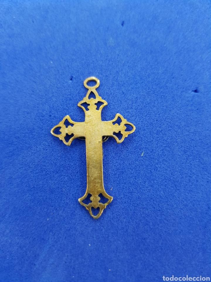 Antigüedades: Cruz de bronce colgante - Foto 2 - 276949378