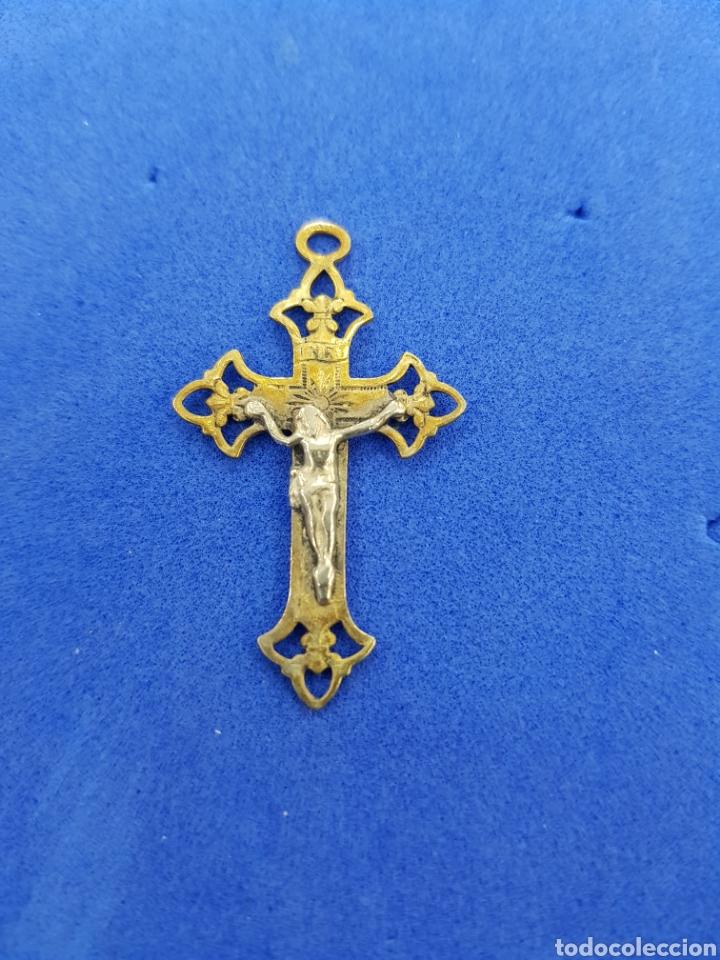 CRUZ DE BRONCE COLGANTE (Antigüedades - Religiosas - Cruces Antiguas)