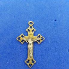 Antigüedades: CRUZ DE BRONCE COLGANTE. Lote 276949378