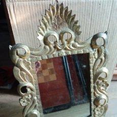 Antigüedades: ESPEJO DE BRONCE.. Lote 276959473