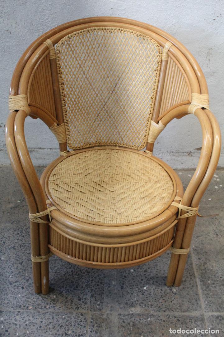 Antigüedades: sillon de mimbre bambu - Foto 2 - 276984043