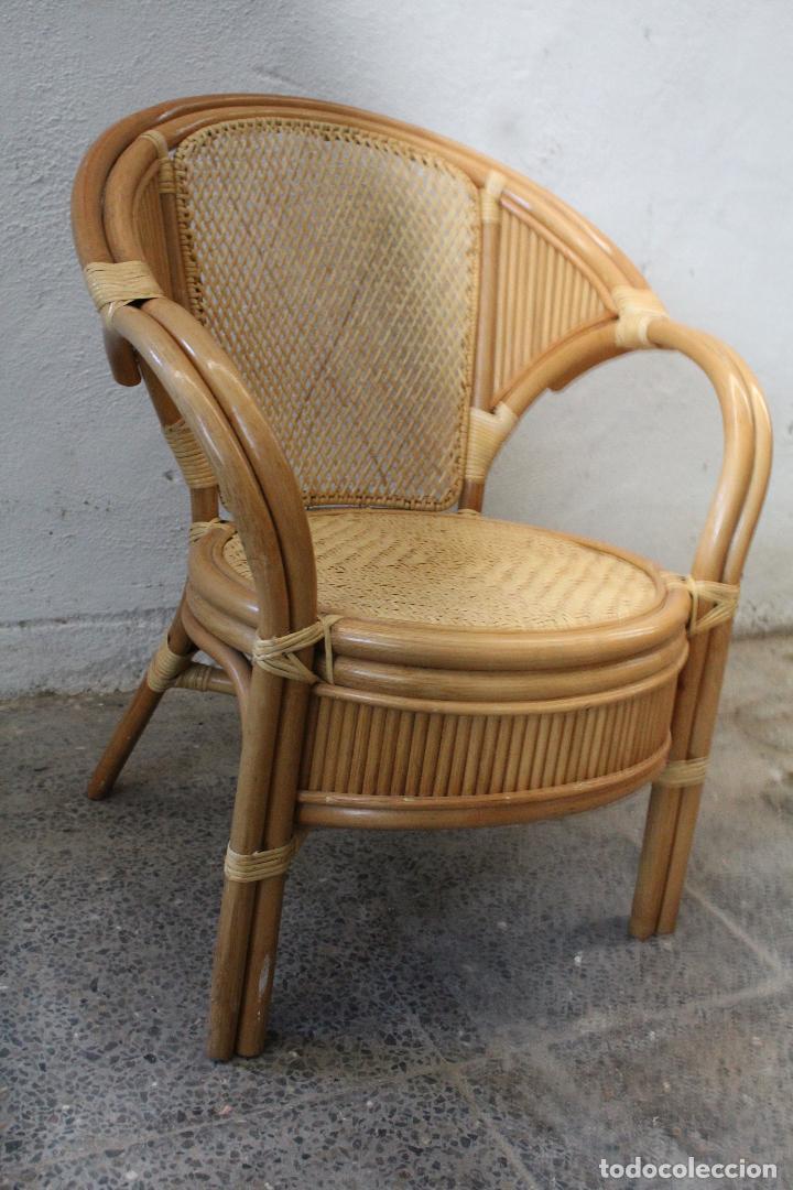 Antigüedades: sillon de mimbre bambu - Foto 3 - 276984043