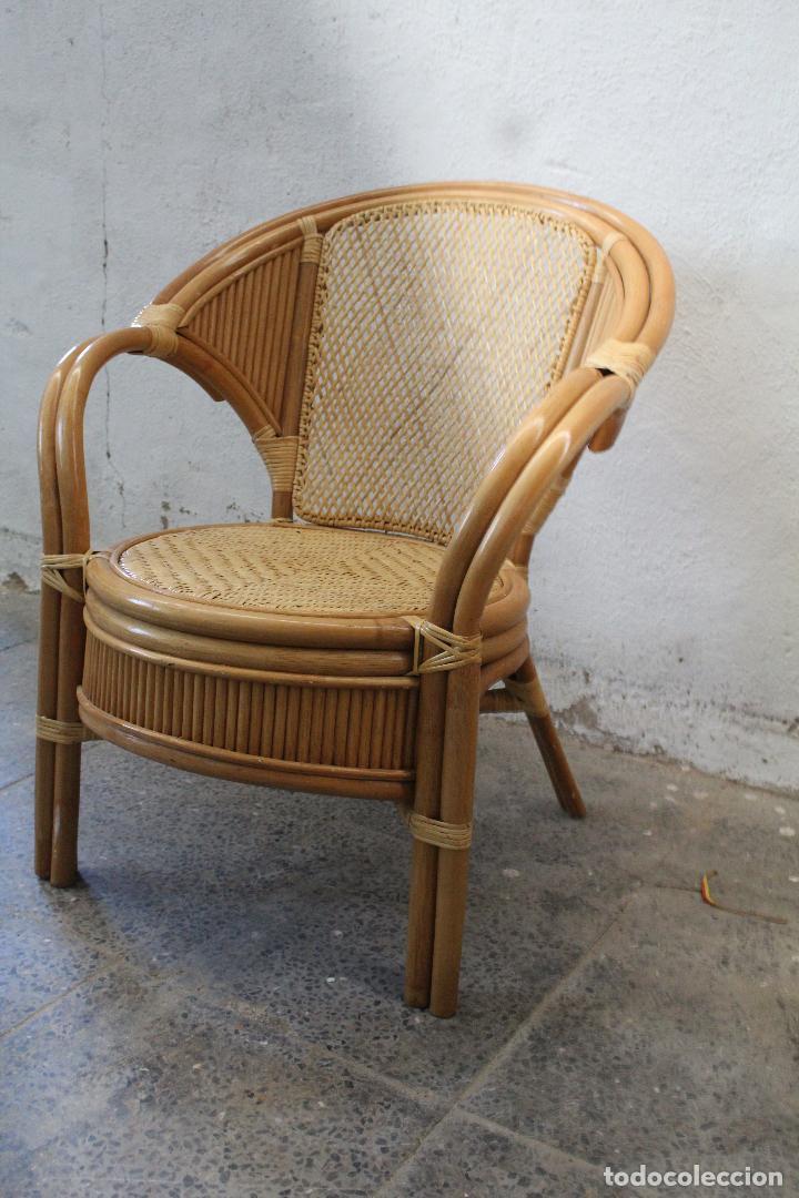 Antigüedades: sillon de mimbre bambu - Foto 4 - 276984043
