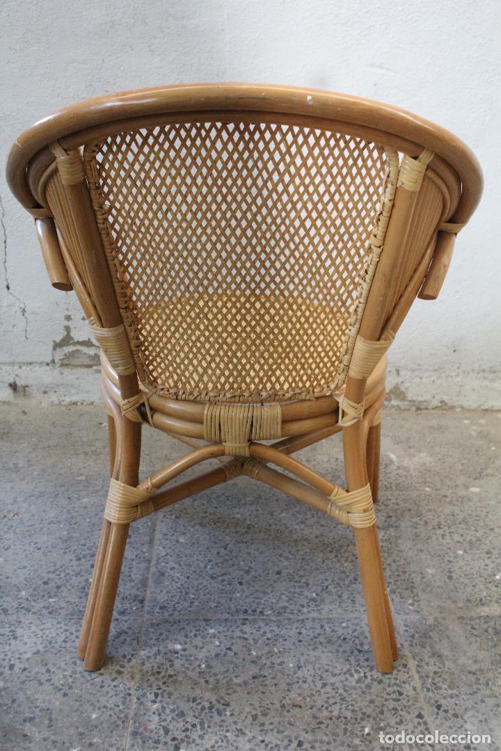Antigüedades: sillon de mimbre bambu - Foto 5 - 276984043