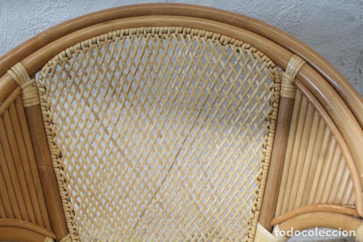 Antigüedades: sillon de mimbre bambu - Foto 6 - 276984043