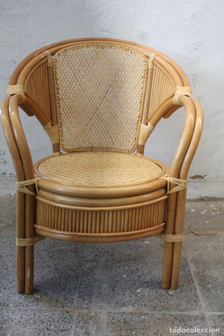 Antigüedades: sillon de mimbre bambu - Foto 7 - 276984043