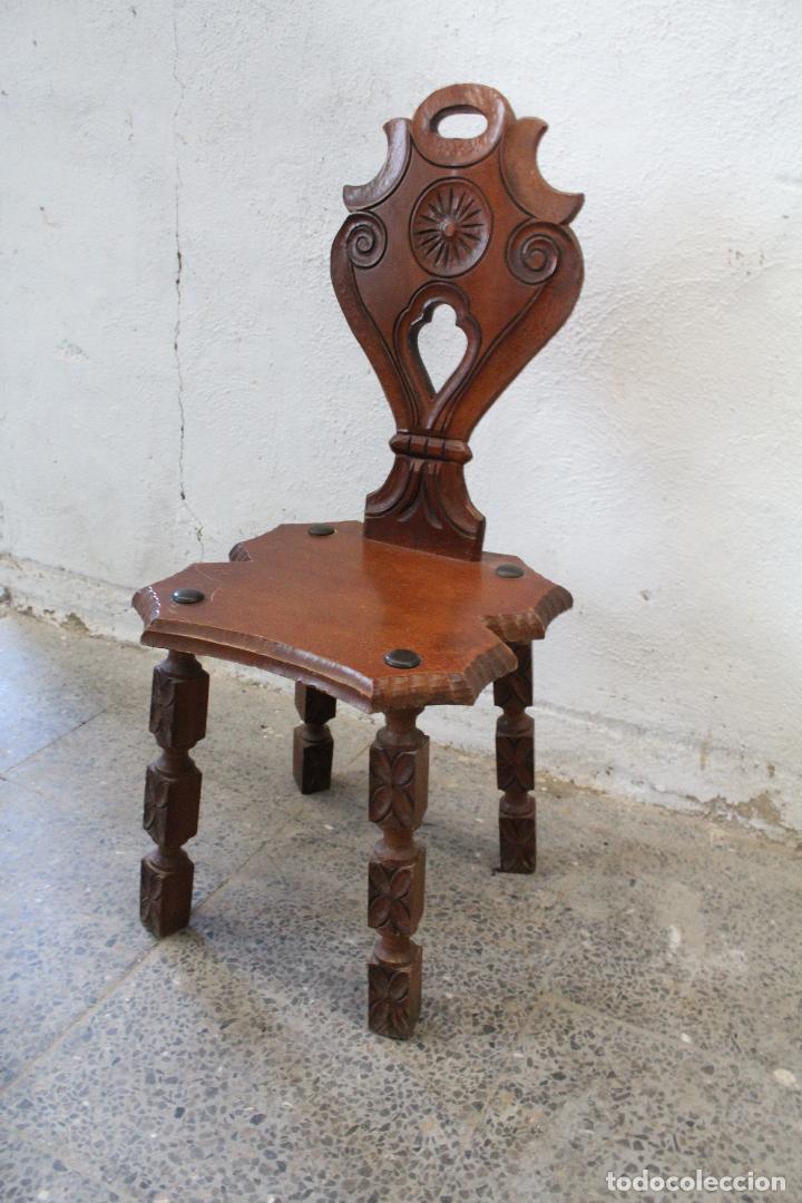 SILLA MADERA RECIBIDOR (Antigüedades - Muebles Antiguos - Sillas Antiguas)