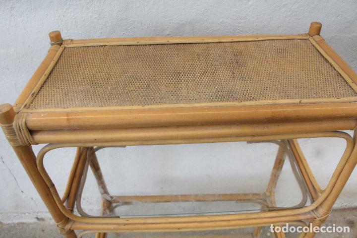 Antigüedades: estanteria mimbre bambu - Foto 2 - 276985283