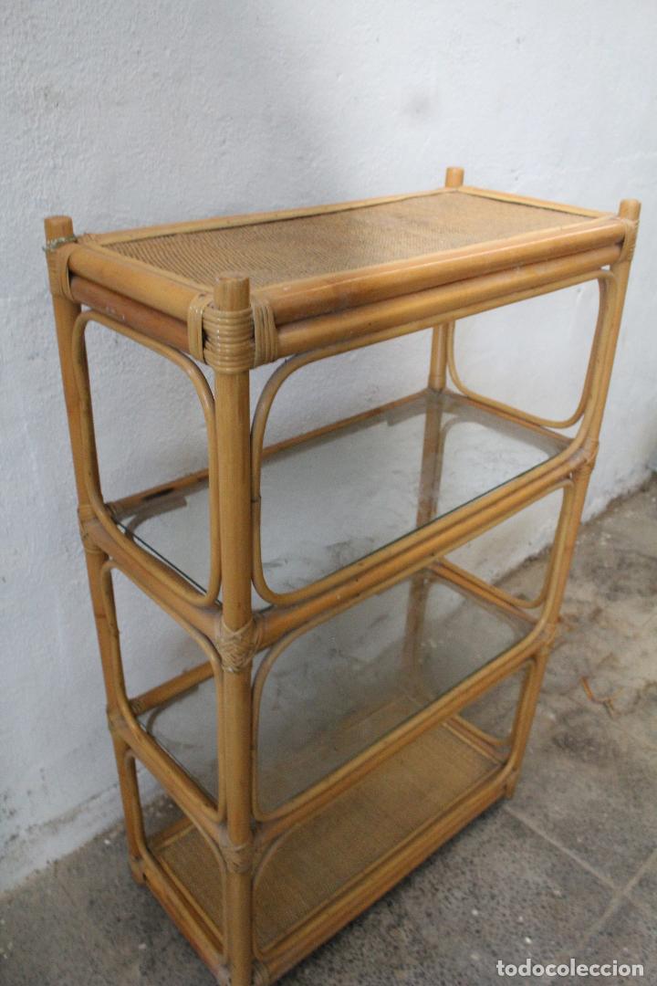 Antigüedades: estanteria mimbre bambu - Foto 3 - 276985283