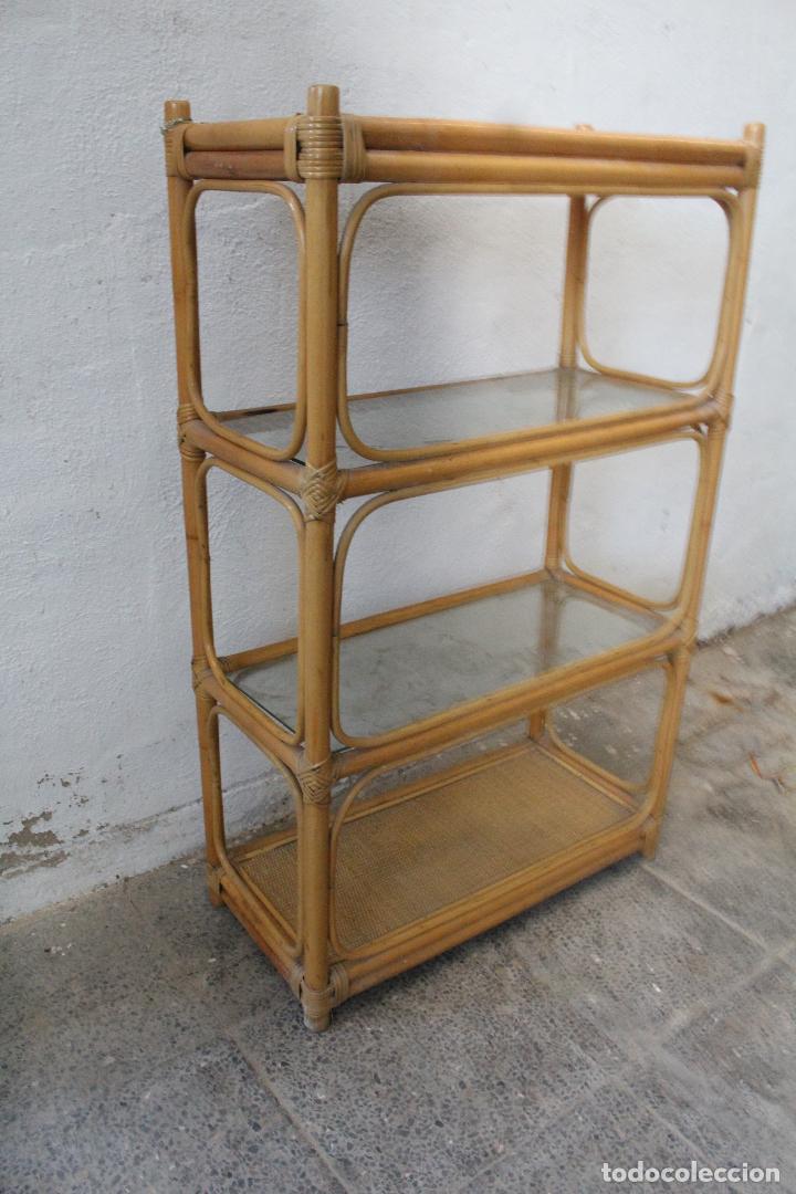 Antigüedades: estanteria mimbre bambu - Foto 4 - 276985283