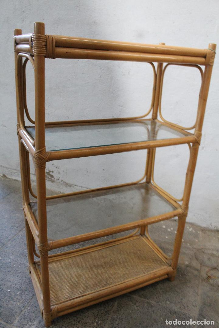 Antigüedades: estanteria mimbre bambu - Foto 5 - 276985283
