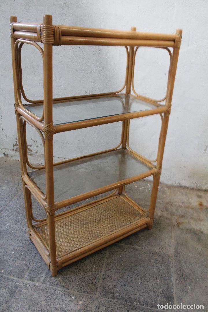 Antigüedades: estanteria mimbre bambu - Foto 6 - 276985283