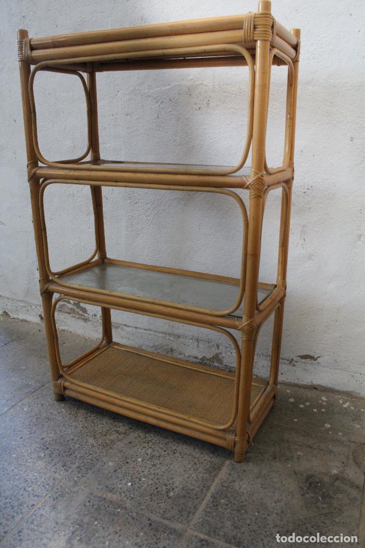Antigüedades: estanteria mimbre bambu - Foto 7 - 276985283