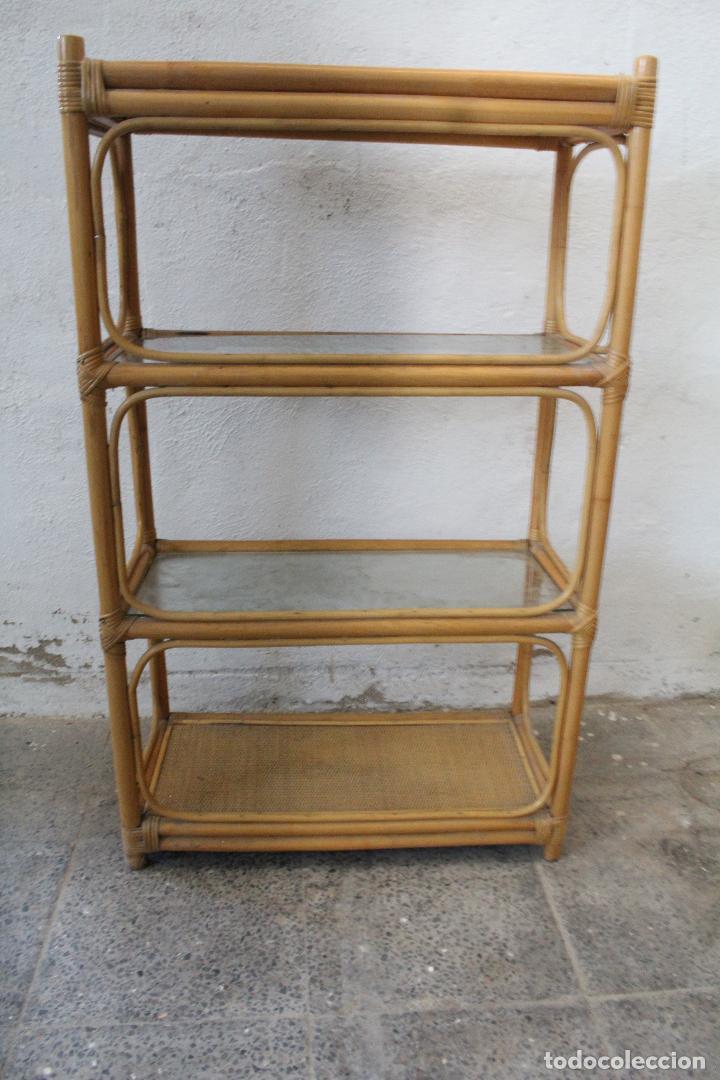 Antigüedades: estanteria mimbre bambu - Foto 8 - 276985283