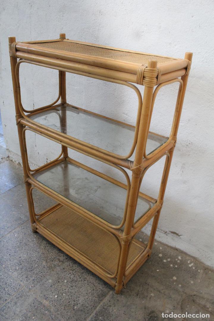 Antigüedades: estanteria mimbre bambu - Foto 9 - 276985283